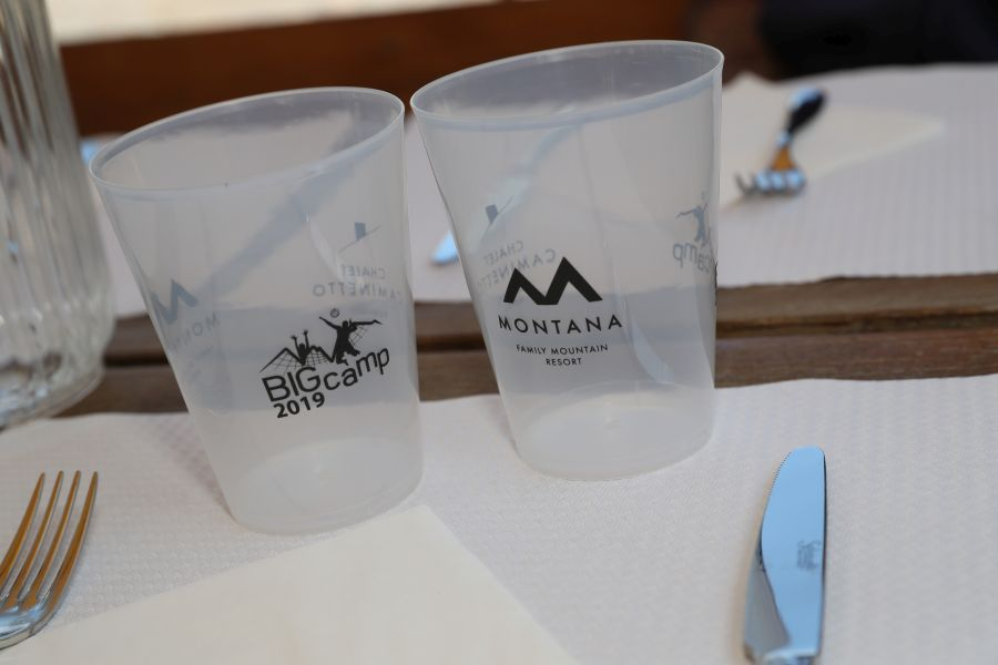 Bicchieri personalizzati BIG Camp all'Hotel Montana!